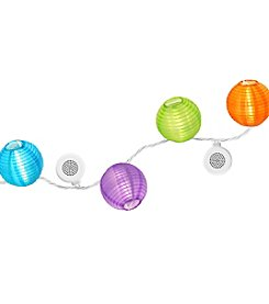 Bright Tunes Indoor/Outdoor LED Decorative Nylon Lanterns String Lights with Bluetooth® Speakers