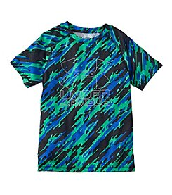 Under Armour® Boys' 8-20 Short Sleeve Big Logo Hybrid Print Tee