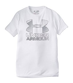 Under Armour® Boys' 8-20 Short Sleeve Big Logo Hybrid Tee