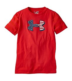 Under Armour® Boys' 8-20 Short Sleeve Flag Logo Tee