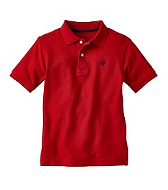 Chaps® Boys' 4-7 Short Sleeve Solid Polo Tee