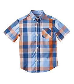 Chaps® Boys' 2T-7 Short Sleeve Plaid Woven Top