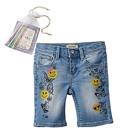 Squeeze® Girls' 4-6X Smiley Face Bermuda Shorts