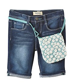 Squeeze® Girls' 4-6X Lace Purse & Bermuda Shorts