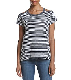 Tommy Hilfiger® Port Stripe Cold Shoulder Tee