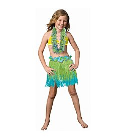 Child Two-Tone Blue/Green Grass Skirt