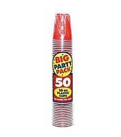 Apple Red Big Party 50-Pk. 16-oz. Plastic Cups