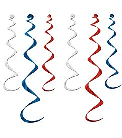 Red, White, and Blue Decoration Whirls