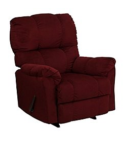 Flash Furniture Contemporary Top Hat Microfiber Rocker Recliner