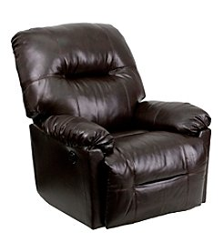 Flash Furniture Contemporary Bentley Leather Chaise Rocker Recliner