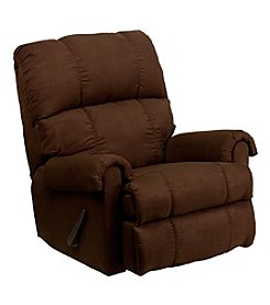Flash Furniture Contemporary Flatsuede Microfiber Rocker Recliner