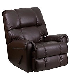 Flash Furniture Contemporary Faux Leather Rocker Recliner