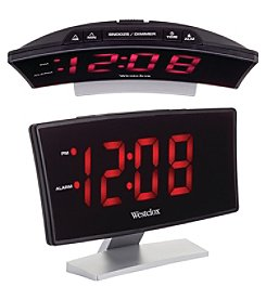Westclox Curved Screen Large Readout Alarm Clock