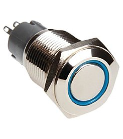 Race Sport 16mm Chrome 2 Position On/Off Switch