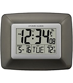 La Crosse Technology Atomic Digital Wall Clock With Indoor Temperature