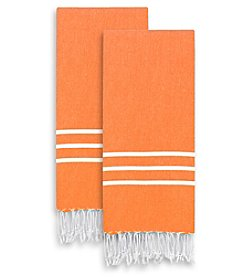 Linum Home Textiles Alara Turkish Pestemal Set of 2 Hand/Guest Towels