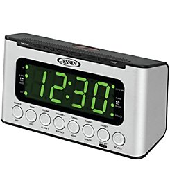Jensen Digital AM FM Dual Alarm Clock Radio With Wave Sensor
