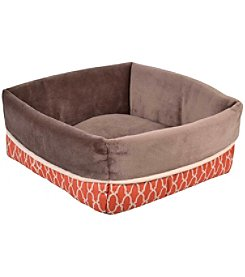 Wild Olive Square Cuff Pet Bed