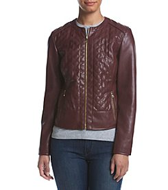 Cole Haan® Collarless Quilted Jacket