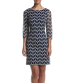 Jessica Howard® Chevron Lace Shift Dress