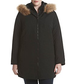 Breckenridge® Plus Size Faux Fur Trim Hooded Anorak