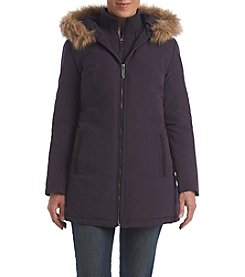 Breckenridge® Petites' Fur Trim Hooded Anorak