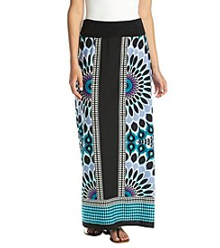 AGB® Printed Knit Maxi Skirt