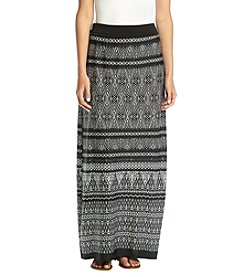AGB® Printed Maxi Skirt