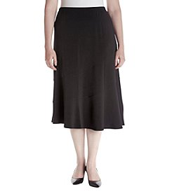 Alfred Dunner® Plus Size Saratoga Springs Spliced Skirt