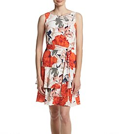 Ivanka Trump® Floral Print Tiered Dress