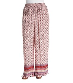 Living Doll® Plus Size Border Print Palazzo Pants
