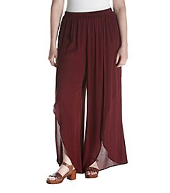 Living Doll® Plus Size Tulip Front Slit Pants