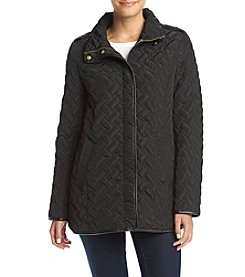 Cole Haan® Quilted A-Line Coat
