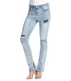 Hippie Laundry Destructed Slit Straight Jeans