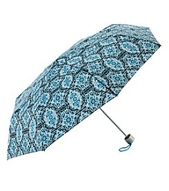 Tricoastal Blue Damask Print Umbrella