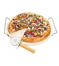 Fox Run Craftsmen® 12.5-Inch Pizza Stone Set