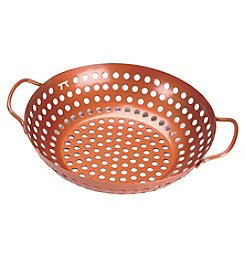 Outset® Copper Nonstick Round Grill Wok