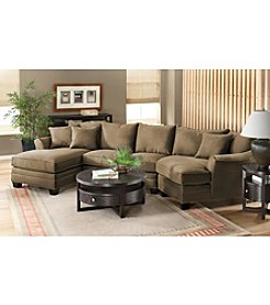 HM Richards Bryant Flared-Arm Microfiber Sectional