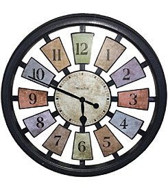 Westclox 18inch Round Colored Panels See Through Clock