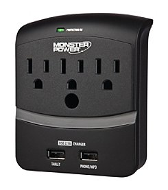 Monster Power Core Power 350 Wall Tap With 2 Usb Ports