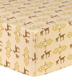 Trend Lab Deer Aztec Deluxe Flannel Fitted Crib Sheet