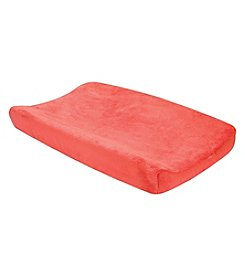 Trend Lab Porcelain Rose Coral Plush Changing Pad Cover