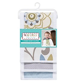 Waverly® Baby by Trend Lab Pom Pom Spa 3 Pack Jumbo Burp Cloth Set