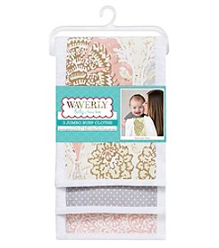Waverly® Baby by Trend Lab Rosewater Glam 3 Pack Jumbo Burp Cloth Set