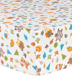 Trend Lab Woodsy Animals Deluxe Flannel Fitted Crib Sheet