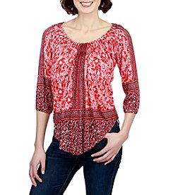 Lucky Brand® Placed Peasant Top