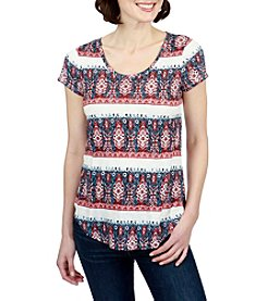Lucky Brand® Bandana Striped Tee