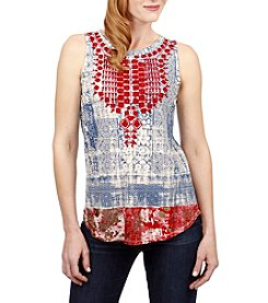 Lucky Brand® Embroidered Bib Tank