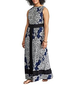 Chaps® Plus Size Printed Sheath Dress