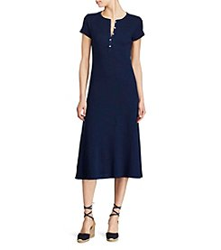 Lauren Ralph Lauren® Waffle Knit Cotton Midi Dress